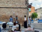 L'acte va comptar amb l'assistència de la cap de Cultura del Consell Comarcal del Segrià, Teresa Malla; l'alcaldessa de Puigverd de Lleida, Sandra Barberà; i l'artista Palmira Rius.